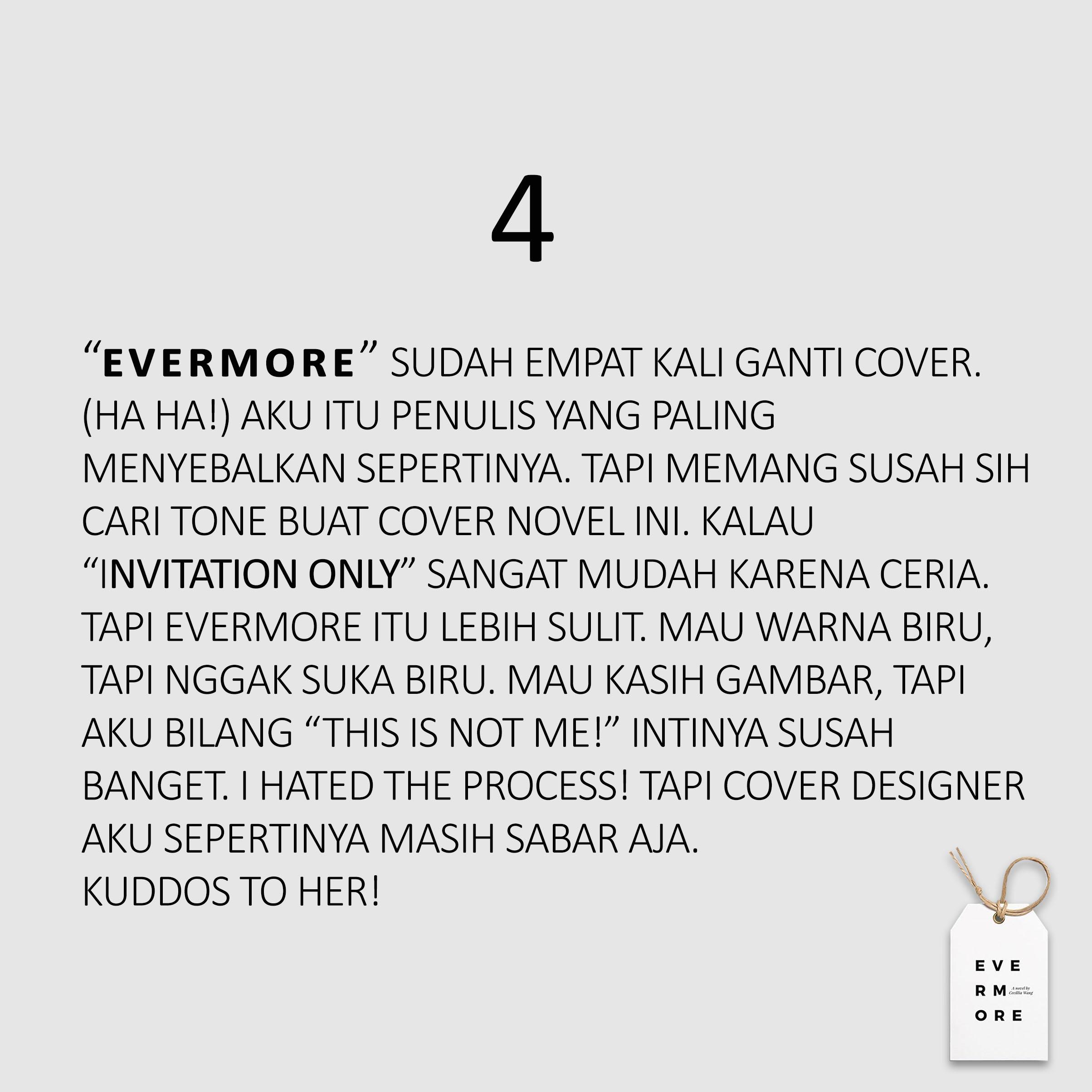 10 hal tentang evermore eksklusif dari cecillia wang bookish journal nah itu dia hal hal tentang evermore langsung dari cecillia wang stopboris Choice Image
